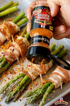 Up your grill game with the ultimate summer vegetable: Bacon-Wrapped Grilled Asparagus. This simple grilled appetizer shows off the spicy, bold flavor of Hot Pepper Blackened Seasoning. Sprinkle it onto asparagus being grilling for a perfect summer party food.
