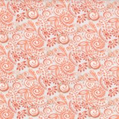 Modern Roses - Sweat Pea in Ginger (7186 14) // Juberry Fabrics