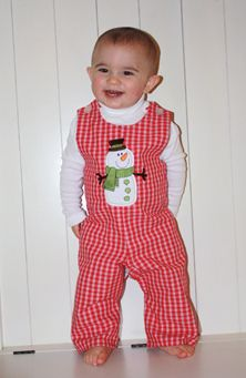 Style 103011 - visit http://facebook.com/childrenscastleboutique on Tuesday nights at 8:00 PM CST for Sales ang Great Deals on children's boutique clothing.  Clothing is available in sizes 12 Months to 6X.   Click on the word facebook above to preview our page.  Red plaid poly/cotton boys long John Johns.  Matching brother-sister, brother-brother outfits available.  White turtle neck and snowman applique sold seperately.