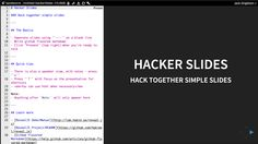 Hacker Slides – A simple app that combines Ace Editor and RevealJS