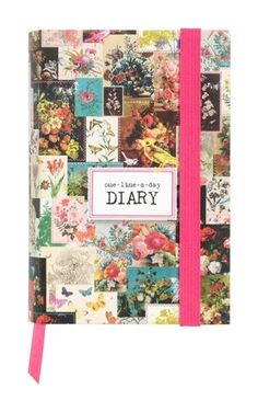 One-line-a-day diary. A simple way to keep a diary, just one little line a day is enough for a lifetime of memories. Start on today's date and fill in the year. Write a little every day for three years; that's how you write your own life story.