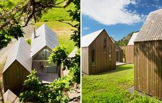reiulf ramstad architects micro cluster cabins norway designboom