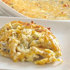 This easy breakfast casserole is simple to throw together and bake. It's filled with sausage and hash browns, and covered in cheese.