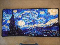 crochet starry night - from roundup of Masterpieces created in crochet