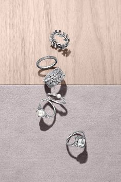 Splendid new PANDORA rings in sterling silver. Combine them to fit your personal style. #PANDORAring