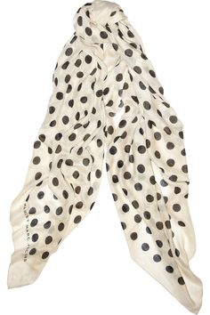 MARC BY MARC JACOBS  Hot Dot printed cashmere and silk-blend scarf
