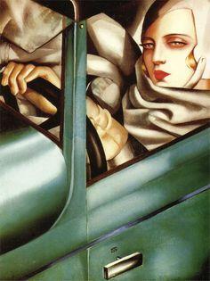 Tamara de Lempicka - Autoportrait (Tamara in the Green Bugatti) – Get Custom Art