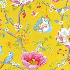 Pip Studio III behang Chinese Garden Yellow 341006 bij Behangwebshop