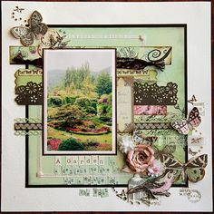 gorgeous scarpbooking layout via In My Own Imagination