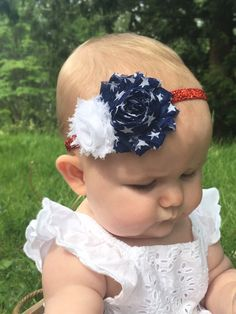 17f3bffd1bf Fourth Of July Baby Headband