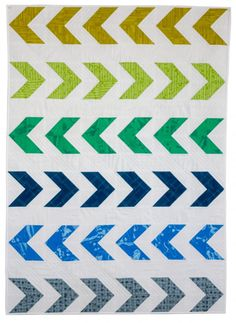 Make a Quick and Easy Arrow Baby Quilt – free pattern!