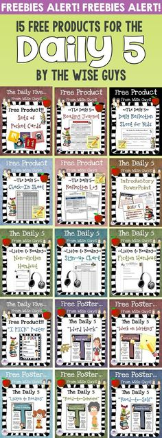 Here are 15 FREE Daily 5 Resources to use in your classroom with your intermediate grade students. Click through now to see all the great freebies for 3rd, 4th, 5th, and 6th grade classroom or home school students! {third, fourth, fifth, sixth graders, fr