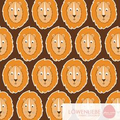 Stoffdesign. Löwenliebe. Löwe. Pattern. Patterndesign. Fabric. Fabricdesign.