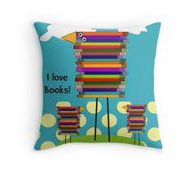 Throw Pillow Gabel, Book Lovers Gifts, I Love Books, Bird Art, Framed Art, Whimsical, Birds, Throw Pillows, My Love