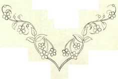 This reminds me a little of the embroidery on Éowyn's White Gown Embroidery On Clothes, Embroidery Applique, Embroidery Patterns, Cross Stitch Patterns, Border Embroidery Designs, Quilting Designs, Craft Patterns, Quilt Patterns, Jewelry Design Drawing