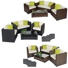 Luxury #rattan aluminium garden furniture sofa set #outdoor #wicker new,  View more on the LINK: 	http://www.zeppy.io/product/gb/2/281635498431/