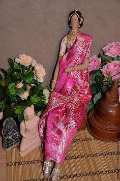 Куклы Тильды ручной работы. Ярмарка Мастеров - ручная работа. Купить Тильда индианка. Handmade. Розовый, текстильная кукла, холофайбер