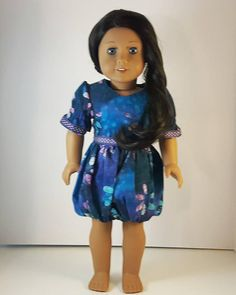 Trendy Dresses, Blue Dresses, Brown Bird, Bubble Skirt, Little Brown, 18 Inch Doll, Dress Party, Gifts For Girls, Dress Skirt