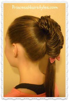 Glamorous fishtail braid ponytail tutorial