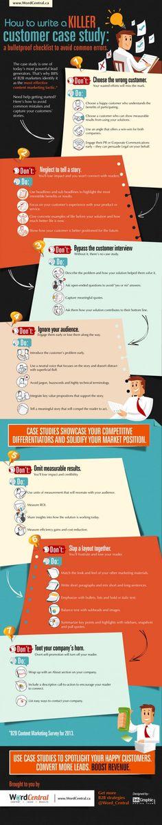 Cas clients: comment bien les rédiger? // 1min30.com // Infographie // 2/12/13