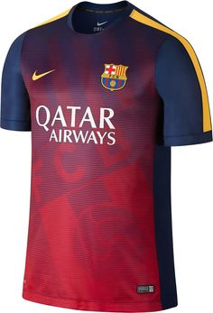 e6c17be2817 The new Nike FC Barcelona 2015 Pre-Match Kit introduces a spectacular  design for the Catalan club. The FC Barcelona 2015 Training II Shirt is  purple.
