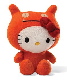 Hello Kitty Uglydoll Wage Plush Gund Hello Kitty Plush When the iconic Sanrio character Hello Kitty comes together with fan favorite Uglydoll, fun things Peluche Hello Kitty, Hello Kitty Toys, Sanrio Hello Kitty, Ugly Dolls, Sanrio Characters, Plush Dolls, Plushies, Being Ugly, Cats And Kittens