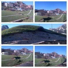 Cancha de Fígaro en Sopocachi Bajo de la ciudad de La Paz y realizada bajo el programa Evo Cumple se hunde.