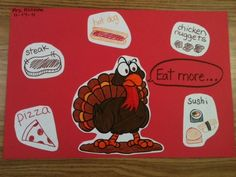 """Eat More ____"" Thanksgiving writing activity"