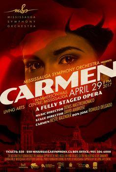 Carmen opera poster by www.keyart.ca #graphicdesign #design #opera #poster #keyart