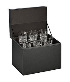 """Waterford """"Lismore"""" 6-Piece Double Old-Fashioned Glass Deluxe Boxed Set   Dillards.com"""