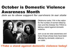 October is Domestic Violence Awareness Month. Visit our website for more information about events!