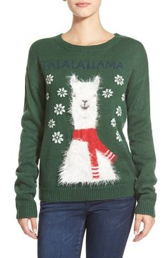 Free shipping and returns on BP. 'Fa La La Llama' Graphic Christmas Sweater at Nordstrom.com. Did you know that llamas have perfect pitch? Okay, so that might not be true, but the adorably bundled-up fuzzy camelid on the front of this holiday pullover is ready and willing to go a-wassailing with you all season long.