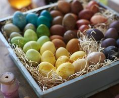 Natural Egg Dye For a fun, creative alternative to typical Easter–egg dyes, use vegetables, tea and fruit to bring your eggs to life. Not...