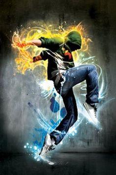 Cool Hip Hop Dance Graphic iPhone Wallpaper