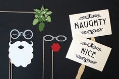Photobooth Prop. Photo Prop. Santa and Mrs Claus Mistletoe Photo Booth Prop