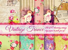 10 Free Charming, Vintage Digi Papers...these are so shabby, love them!