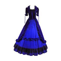 Amazon.com: Fantasy_Outlet Ruffles Gothic Victorian Fancy Elegant... ($110) ❤ liked on Polyvore featuring dresses