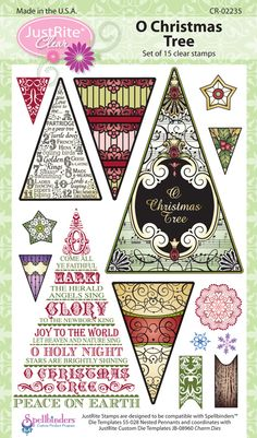 O Christmas Tree set of 15 Clear Stamps