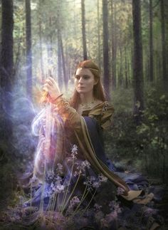 My Mystic Healer Archetype facilitating healing found in the power of God and the life force of nature.
