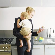 """Research has found """"children whose mothers returned to work when they were young fared just as well as those with stay-at-home moms."""" Via the Los Angeles Times."""
