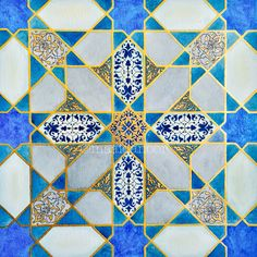 Geometry- rumi motif- gold gilding- 23ct goldleaf- islamicart traditional islamic geometry art piece.