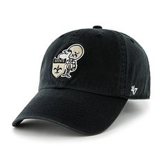 New Orleans Saints 47 Brand NFL Black Throwback Clean Up Adjustable Hat fa8b6f45b