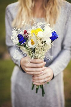 Glass flower bouquet - photography by Seriously Sabrina Photography via Fab You Bliss