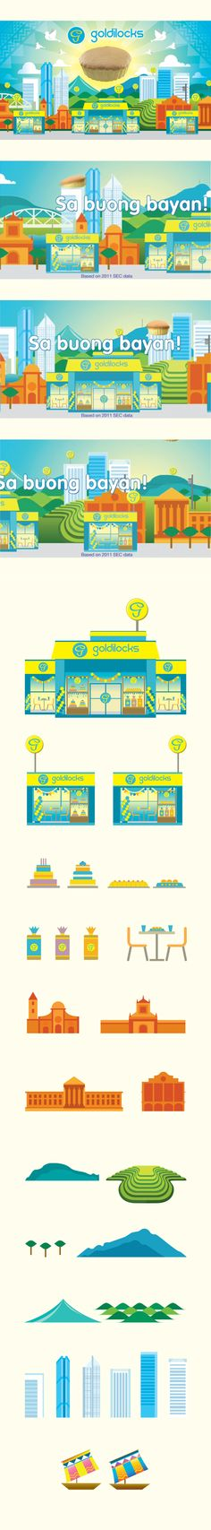 Illustrations for Goldilocks' TVC by Jeth Torres, via Behance Manila, Philippines, Behance, Illustrations, Design, Illustration, Illustrators