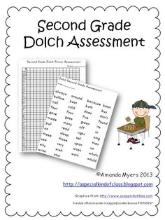 Dolch Assessment Pack Freebies - Includes instructions for children with little or no verbal skills