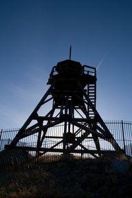 Silhouette of a fire tower near Helena, Montana.