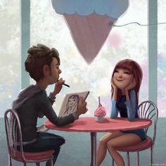 Quando o sentimento verdadeiro existe entre duas pessoas, o silêncio e o olhar bastam para revelar um amor sincero.