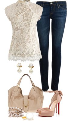 """Lace and everything nice"" by angela-windsor on Polyvore"