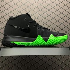 7c5f2a6bb9dc4 Men s Nike Kyrie 4 Halloween Black Rage Green 943806-012-3 Green Basketball  Shoes