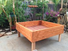 Raised Garden Planter box / bed for herbs by BrightValleyGardens, $1.00